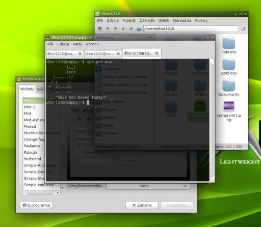 Compton + Openbox + LXDE
