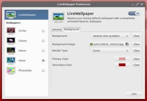 LiveWallpaper - konfiguracja