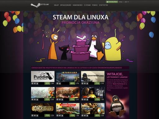 Steam dla Linuksa w promocyjnej odsłonie