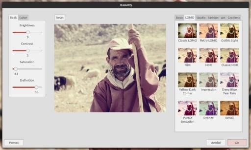 GIMP - wtyczka Beautify w akcji
