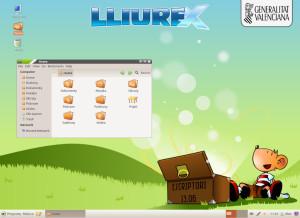 LliureX 13.06, wersja biurkowa