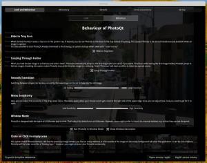 PhotoQT i skarbnica opcji