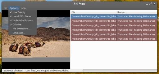 Bad Peggy 1.5.1 w trakcie pracy