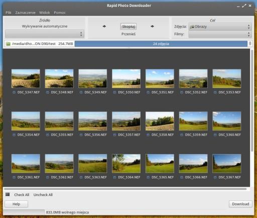 Rapid Photo Downloader - kopiowanie pod specjalnym nadzorem