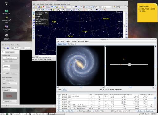 Distro Astro 1.02 - największenie stężenie programów naukowych na 1cm^2 monitora