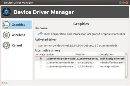 Device Driver Manager - wykryto kartęgraficzną
