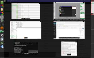 Xfdashboard - wszystkie okna na jednym ekranie