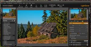 LightZone 4.1 Beta 8 - podczas pracy