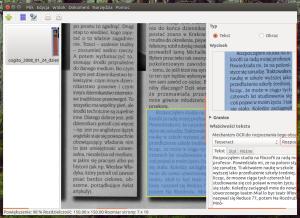 OCRFeeder - tekst z gazety