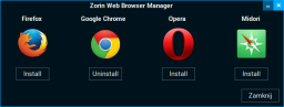 Zorin Web Browser Manager