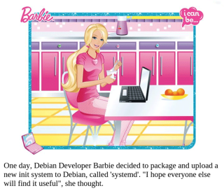 A Barbie lubi systemd