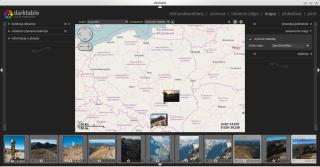 Darktable 2.0.3, mapa i geotagowanie