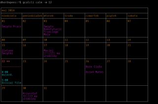 Kalendarz na cały miesiąc, a jakże