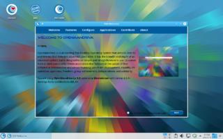 OpenMandriva LX 3.0 z ekranem powitalnym