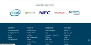 To nie 1 kwietnia - logo Microsoftu na stronie The Linux Foundation