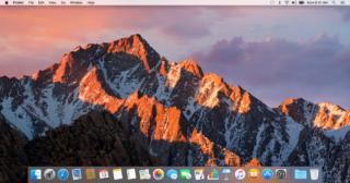 Darwin z uruchomionym macOS 10.12 Sierra